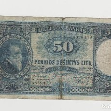 Billetes extranjeros: LITUANIA- 50 LITU- 1928-RARO. Lote 142622162