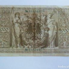 Billetes extranjeros: 1000 MARK KEICHSBANFNOTE 1910. Lote 227257745