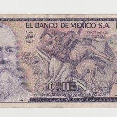 Billetes extranjeros: MEXICO- 100 PESOS-1982. Lote 142684718