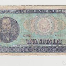Billetes extranjeros: RUMANIA- 100 LEI- 1966. Lote 142694558