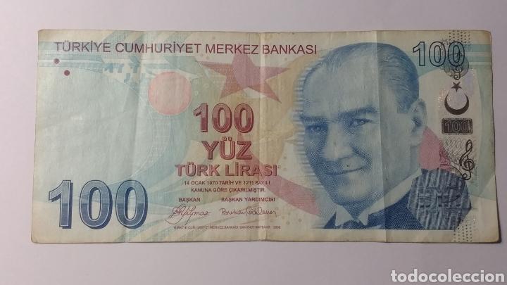 TURQUÍA 100 LIRAS 2009 (Numismática - Notafilia - Billetes Extranjeros)
