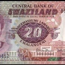 Billetes extranjeros: BILLETE SWAZILAN 20 EMALANGENI 1986. Lote 143122168