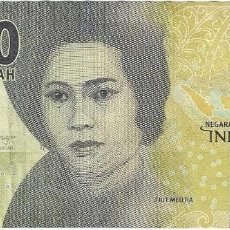Billetes extranjeros: INDONESIA 1.000 RUPIAH 2016 PICK 154.2. Lote 143228946
