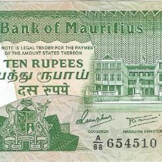 Billetes extranjeros: MAURICIO - MAURITIUS 10 RUPEES 1987 PICK 35 SIN CIRCULAR. Lote 143229070