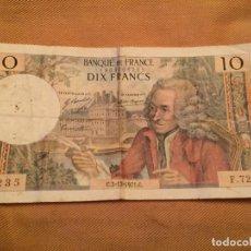Billetes extranjeros: ANTIGUO BILLETE FRANCIA - DIX 10 FRANCS FRANCOS - BANQUE DE FRANCE - 1969. Lote 143549370