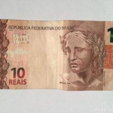Billetes extranjeros: BILLETE 10 REAIS BRASIL 2010. Lote 143553046