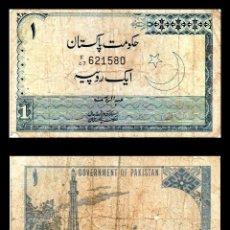 Billetes extranjeros: PAKISTAN 1 RUPIA 1975 BC. Lote 144140798