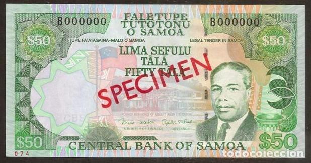SAMOA. 50 TALA (2006). PICK 36 S. SPECIMEN Nº74. S/C. (Numismática - Notafilia - Billetes Internacionales)