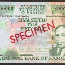 Billetes extranjeros: SAMOA. 50 TALA (2006). PICK 36 S. SPECIMEN Nº74. S/C.. Lote 144485604