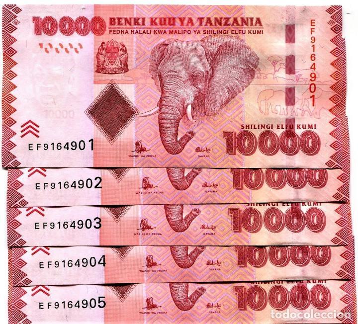 UNC ND 2015 Tanzania 10000 Shillings P-44b