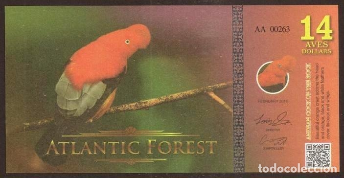 Macaw Atlantic Forest 2 Aves Dollar 2016