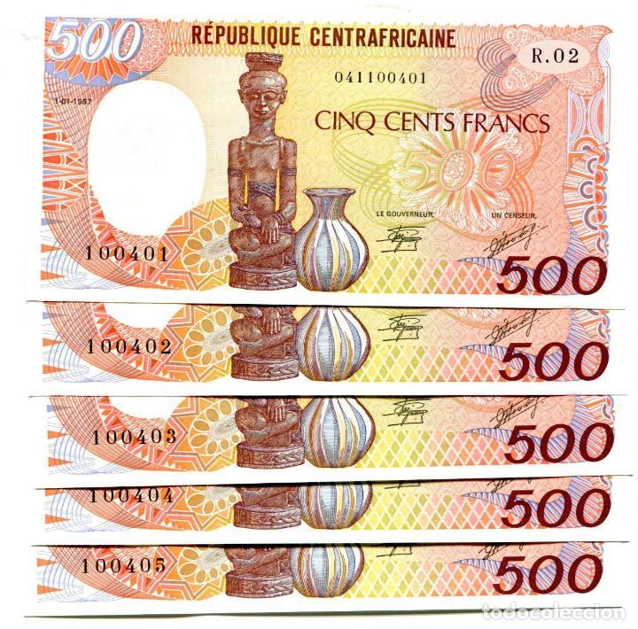 Central African 1987 UNC P-14c banknote 500 Francs