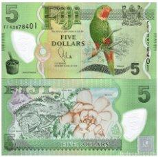 Billetes extranjeros: FIJI 5 DOLLARS ND(2013) P-115 UNC. Lote 144982166