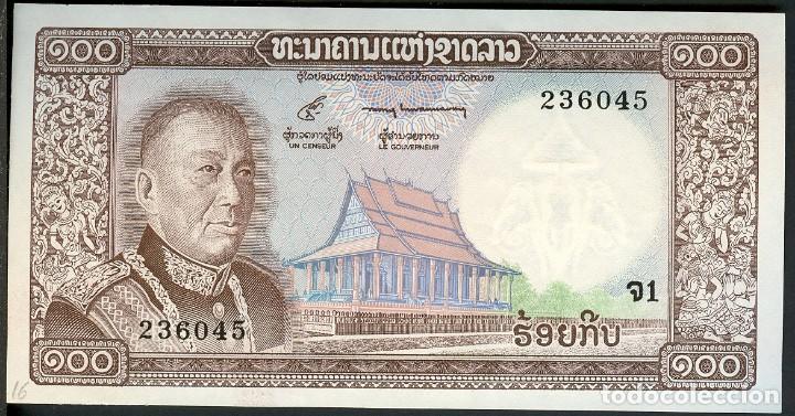 CMC LAOS (LAO) 100 KYP ND (1974) PICK 16-A SC (Numismática - Notafilia - Billetes Extranjeros)