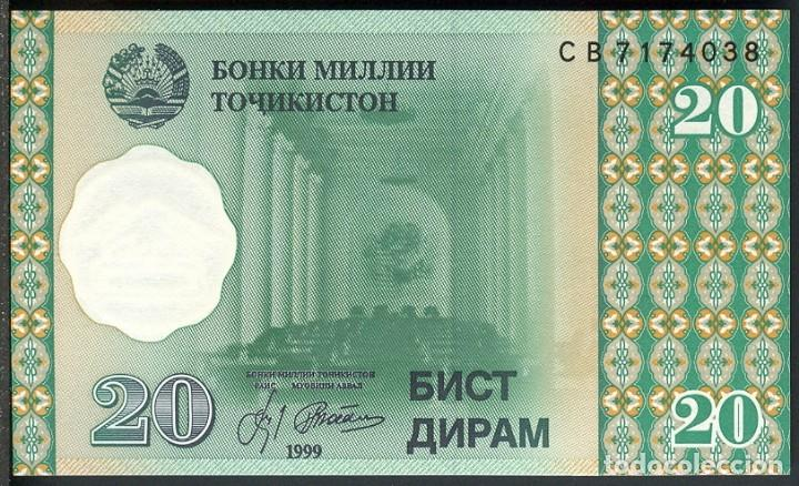 CMC TAJIKISTAN 20 DIRAM 1999 PICK 12-A SC (Numismática - Notafilia - Billetes Extranjeros)