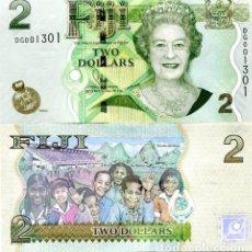 Billetes extranjeros: FIJI 2 DOLLARS ND(2011) P-109B UNC. Lote 145125286