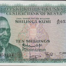 Billetes extranjeros: BILLETES - KENIA - 10 SHILLINGS 1968 - SERIE A/21 - PICK-2C (EBC+). Lote 145167142