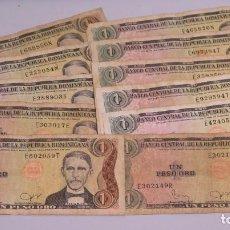 Billetes extranjeros: 11 BILLETES REPUBLICA DOMINICANA. 1 PESO. Lote 145328918