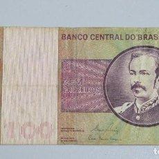 Billetes extranjeros: BILLETE 100 CRUZEIROS.BRASIL. Lote 145329082