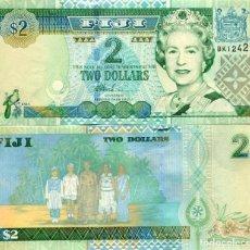 Billetes extranjeros: FIJI 2 DOLLARS ND(2002) P-104 UNC. Lote 145768266
