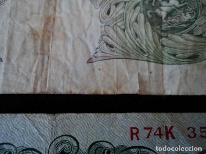 Billetes extranjeros: DOS BILLETES DE ONE POUND BANK OF ENGLAND. UNA LIBRA ESTERLINA. REINO UNIDO. INGLATERRA. - Foto 3 - 145882482