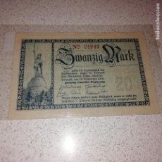 Billetes extranjeros: LIPPE (ALEMANIA) 20 MARCOS DE 1918. GROSSNOTGELD. Lote 145929914