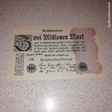 Billetes extranjeros: ALEMANIA WEIMAR 2 MILLONES DE MARCOS 1922. SC. Lote 145930630