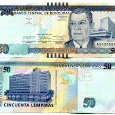 Notas Internacionais: HONDURAS 50 LEMPIRAS 2014 P-101B UNC. Lote 146031822