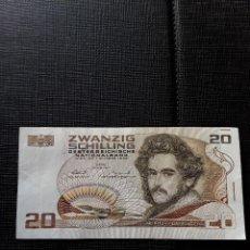 Billetes extranjeros: AUSTRIA 20 SCHILLING 1986 PICK 148 MBC+. Lote 146176326