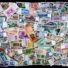 Billetes extranjeros: GRAN LOTE 125 BILLETES DEL MUNDO CALIDAD UNC TODOS DIFERENTES. Lote 150695108