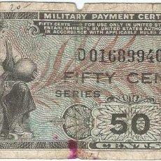 Billetes extranjeros: ESTADOS UNIDOS - UNITED STATES 50 CENTS 1951 PICK 25 MILITAR. Lote 146458554