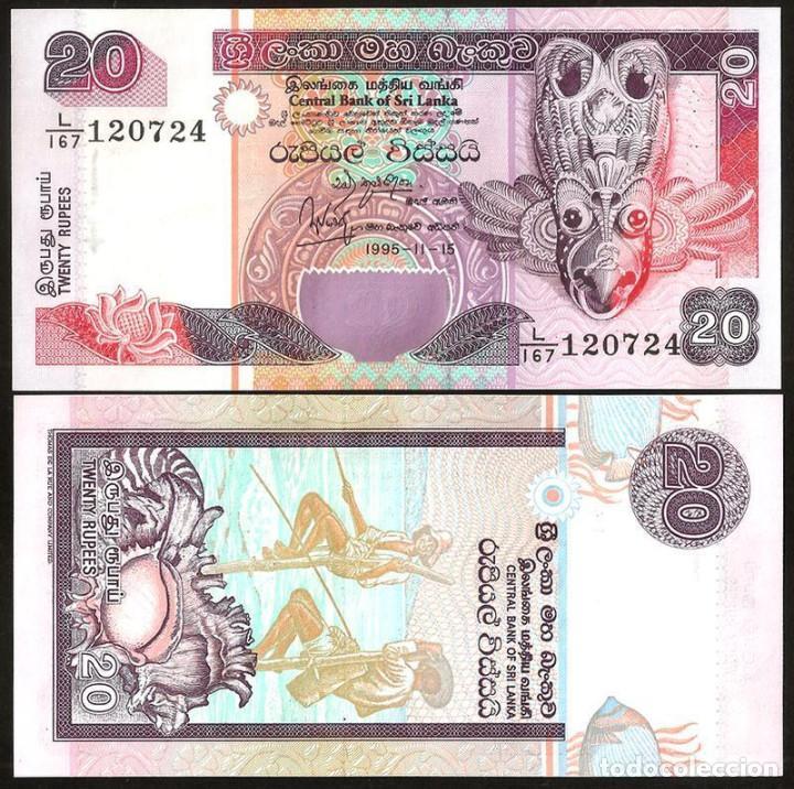 SRI LANKA - 20 RUPEES - (1995-11-15) - S/C (Numismática - Notafilia - Billetes Extranjeros)