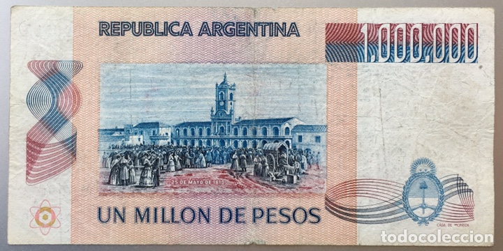 ARGENTINA. 1000000 DE PESOS (Numismática - Notafilia - Billetes Extranjeros)