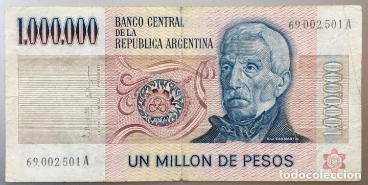 Billetes extranjeros: Argentina. 1000000 de pesos - Foto 2 - 146619930