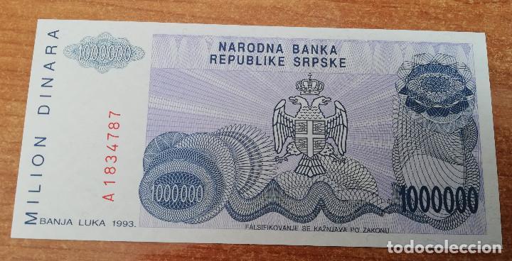 Billetes extranjeros: BOSNIA Y HERZEGOBINA 1,000,000 DINARA 1983 PICK# 152a. SIN CIRCULAR - Foto 2 - 146620390