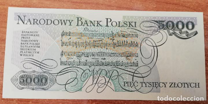 Billetes extranjeros: POLONIA 5.000 ZLOTYCH 1998. SIN CIRCULAR - Foto 2 - 146620846