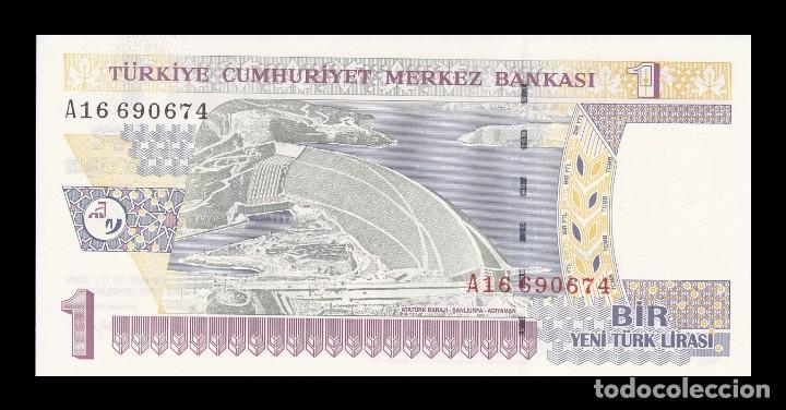Billetes extranjeros: TURQUIA 1 LIRA NUEVA 2005. PICK 216. SC (Sin circular) - Foto 2 - 146621126