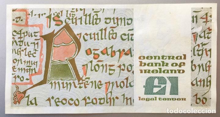 International Banknotes: Irlanda. 1 Libra - Foto 2 - 146621906