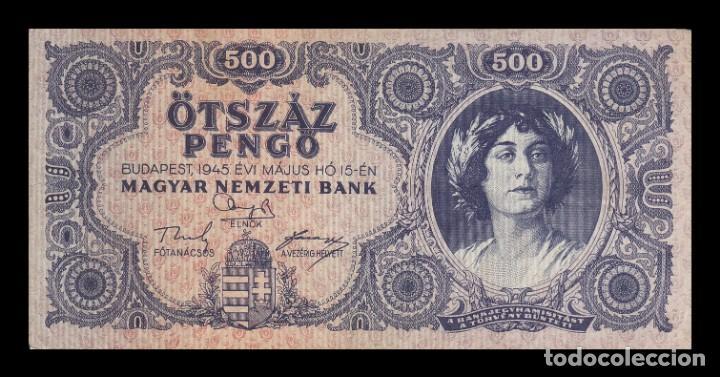 HUNGRIA 500 PENGO 1945. PICK 117A. BC+ (Numismática - Notafilia - Billetes Extranjeros)