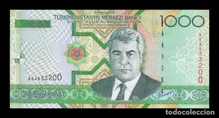TURKMENISTAN 1000 MANAT 2005. PICK 20. SC (SIN CIRCULAR) (Numismática - Notafilia - Billetes Extranjeros)