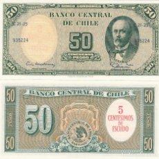 Billetes extranjeros: L016 BILLETE CHILE 50 PESOS 1960-6 SC UNC. Lote 146781326