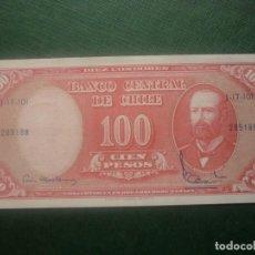 Billetes extranjeros: CHILE - 100 PESOS / 10 CENTÉSIMOS DE ESCUDO (1960-61). Lote 146948646