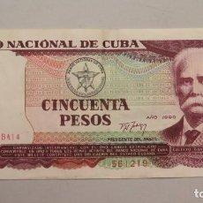Billetes extranjeros: BILLETE. 50 PESOS. CUBA. 1990. Lote 147393566