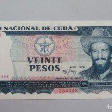 Billetes extranjeros: BILLETE. 20 PESOS. CUBA. 1991. Lote 147393690