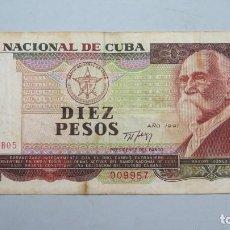 Billetes extranjeros: BILLETE 10 PESOS. CUBA. 1991. Lote 147393762