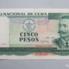 Billetes extranjeros: BILLETE. 5 PESOS. CUBA. 1991. Lote 147393846