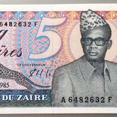 Billetes extranjeros: ZAIRE. 5 ZAIRES. Lote 147555481