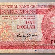 Billetes extranjeros: BARBADOS. 1 DOLAR. Lote 147555724