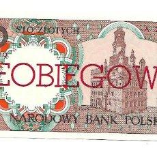 Billetes extranjeros: POLONIA 100 ZLOTYCH 1990 PICK# 170A. SIN CIRCULAR *** RARO ***. Lote 151711736