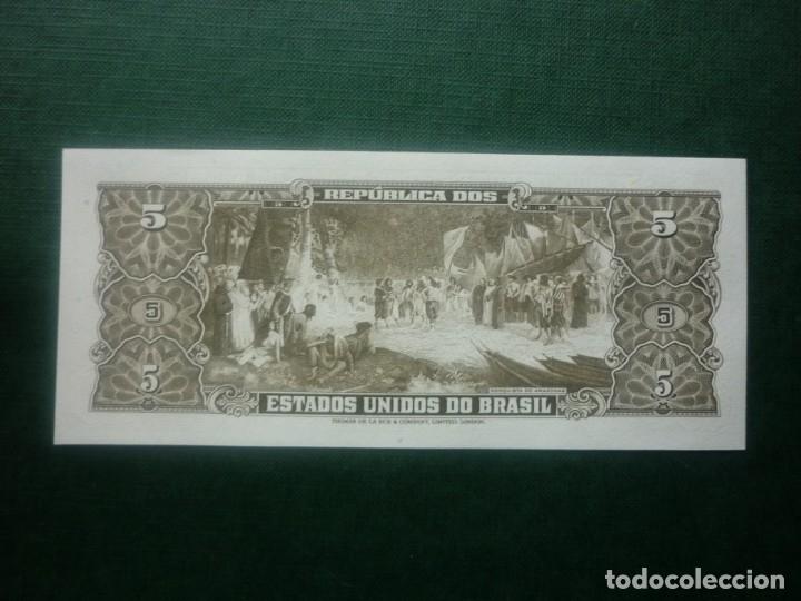 Internationale Banknoten: BRASIL - 5 CRUZEIROS (1962-63) Nº 006336 - Foto 2 - 147771546